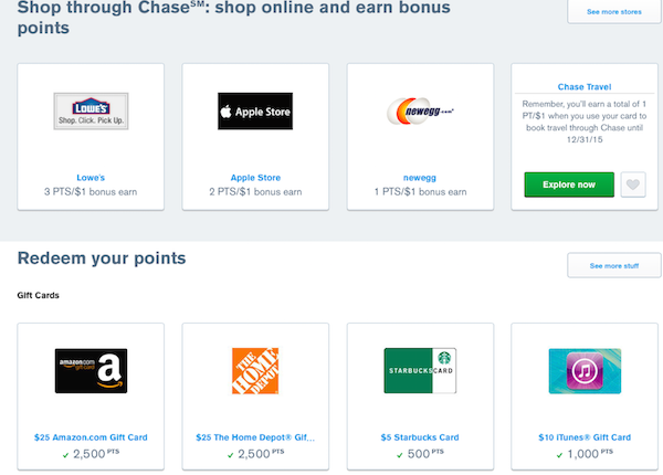 Ultimate Rewards Shopping Portal & Gift Cards
