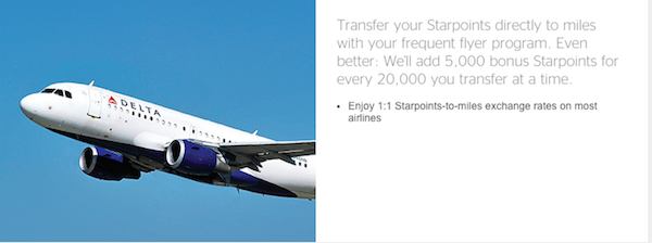 SPG transfer to airlines
