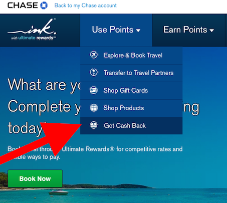 Redeem Ultimate Rewards for Cash Back Statement Credits
