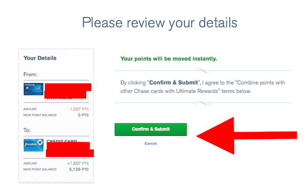 How to combine Ultimate Rewards points with other household accounts