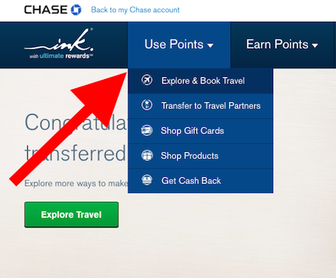 Redeem Ultimate Rewards through the Chase Ultimate Rewards Portal