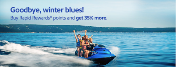 Southwest Rapid Reward Points 35 Bonous