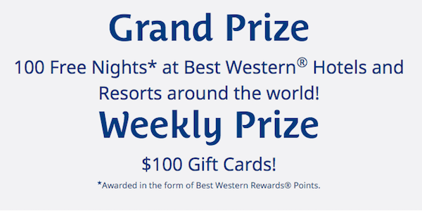 Best Western Dream to Redeem Prizes