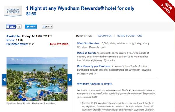 Daily getaways Wyndham details