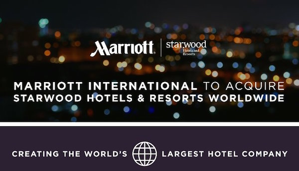 Marriott Acquires Starwood Worldwide
