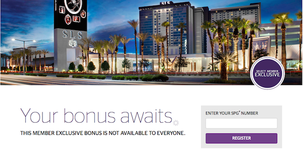 Starwood Preferred Guest - Select Member Promotion Landing Page