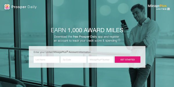 Prosper Daily 1000 MileagePlus Miles Giveaway