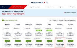 Flying Blue One-way Economy Class Award Paris To New York