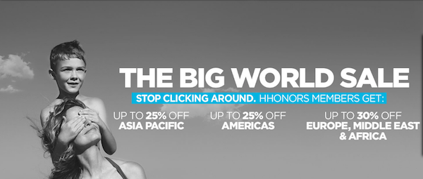 Hilton Honors The Big World Sale