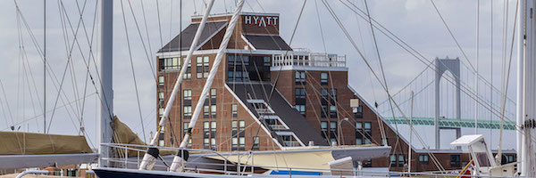 The Hyatt Regency Newport is a category 5 hotel costing 20,000 points per night.