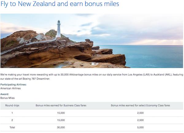 American Airlines 30000 Bonus Miles LA-AKL