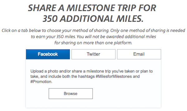 AAdvantage Milestones to Miles Signup Page