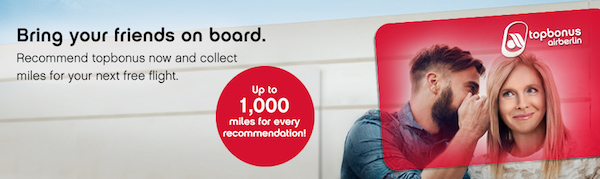 Free airberlin topbonus miles for referring a friend
