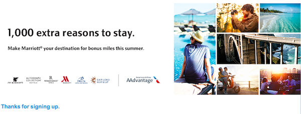 Marriott Summer Airline Miles Promotion