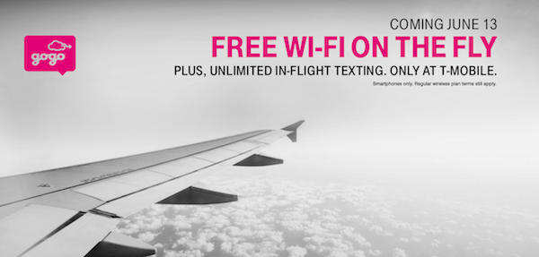 Free Gogo WiFi For T-Mobile Customers