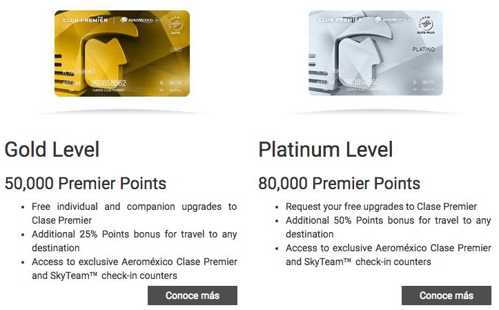 Aeromexico Club Premier Levels