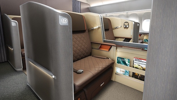 Singapore Airlines new first class seat