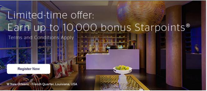 Earn up to 10,000 bonus Starpoints