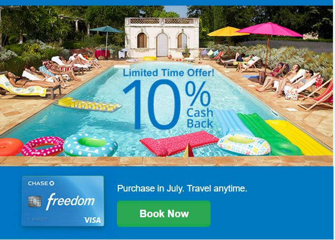 Chase Freedom 10% Cash Back