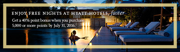 Hyatt Gold Passport offering massive 40% on purchased points