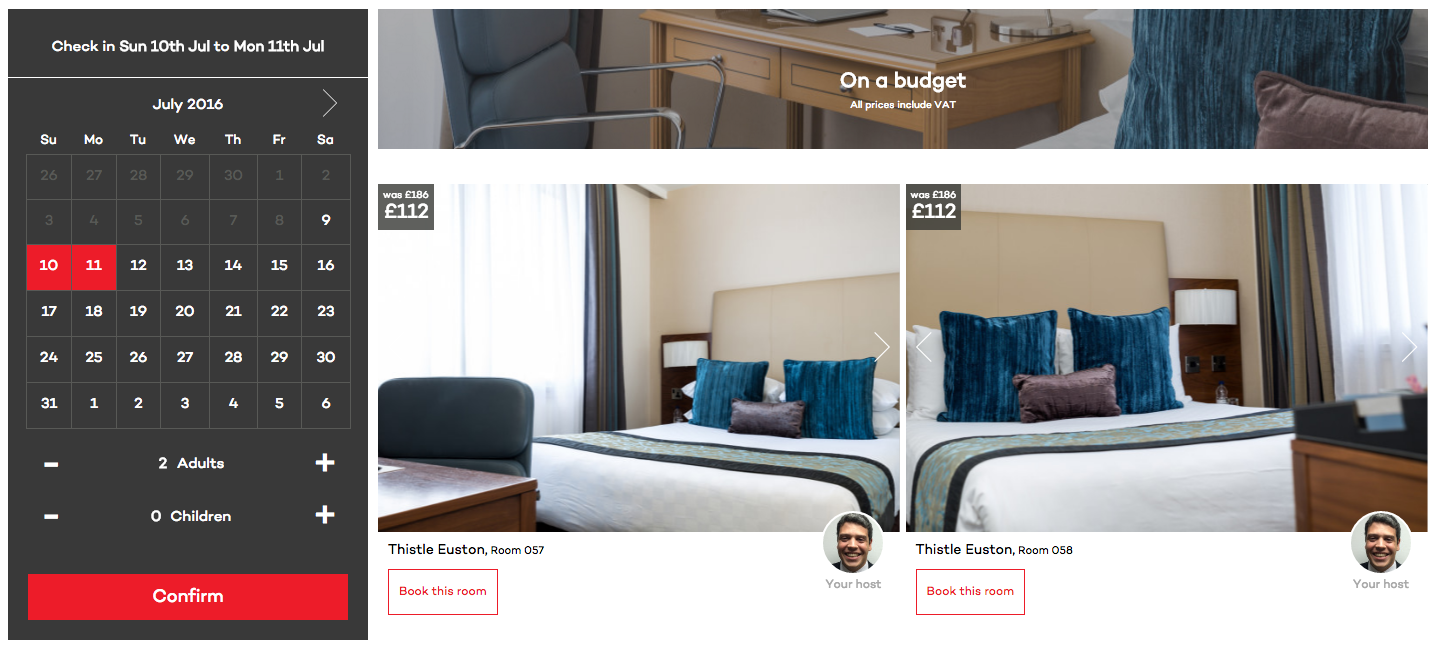 GLH Hotels new booking site lets you book by a specific room