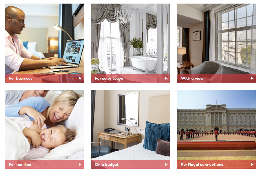 Choose Your Own Room breaks rooms up into user categories