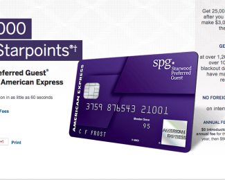 The Starwood Preferred Guest Credit Card from American
