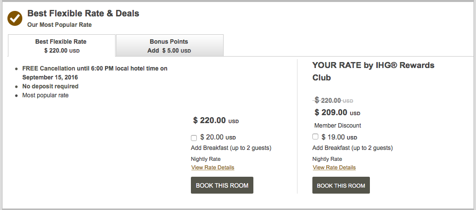 The Intercontinental Phnom Penh would typically cost 25,000 points or over $200 per night