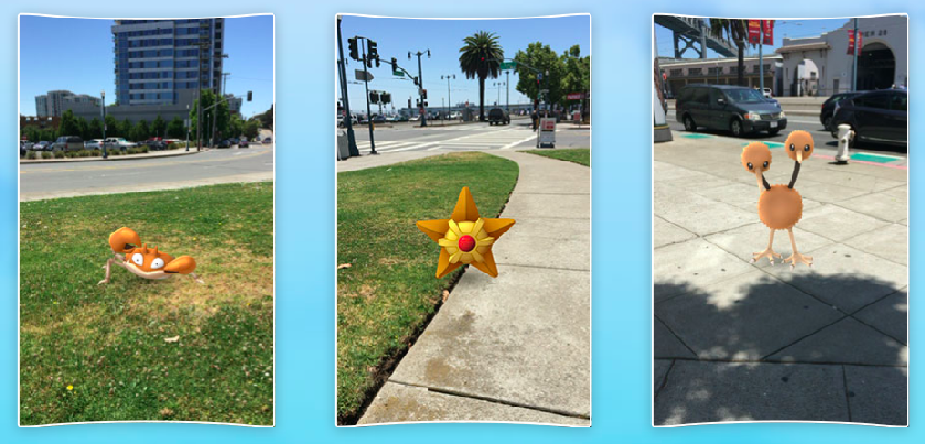 Pokémon spawn using data from Google Maps and can only be seen using the Pokémon Go app and a smartphone | Pokemongo.com
