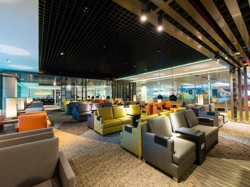 The Dnata Lounge located in Singapore's Changi International airport