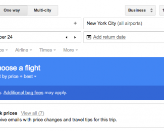 Tracking airfare prices with Google Flight price alerts
