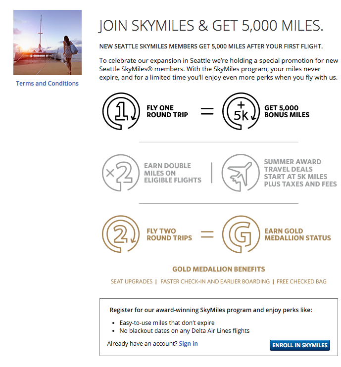 Join SkyMiles & Get 5,000 Miles