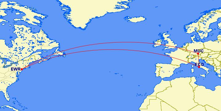 Newark to Munich to Rome to Newark
