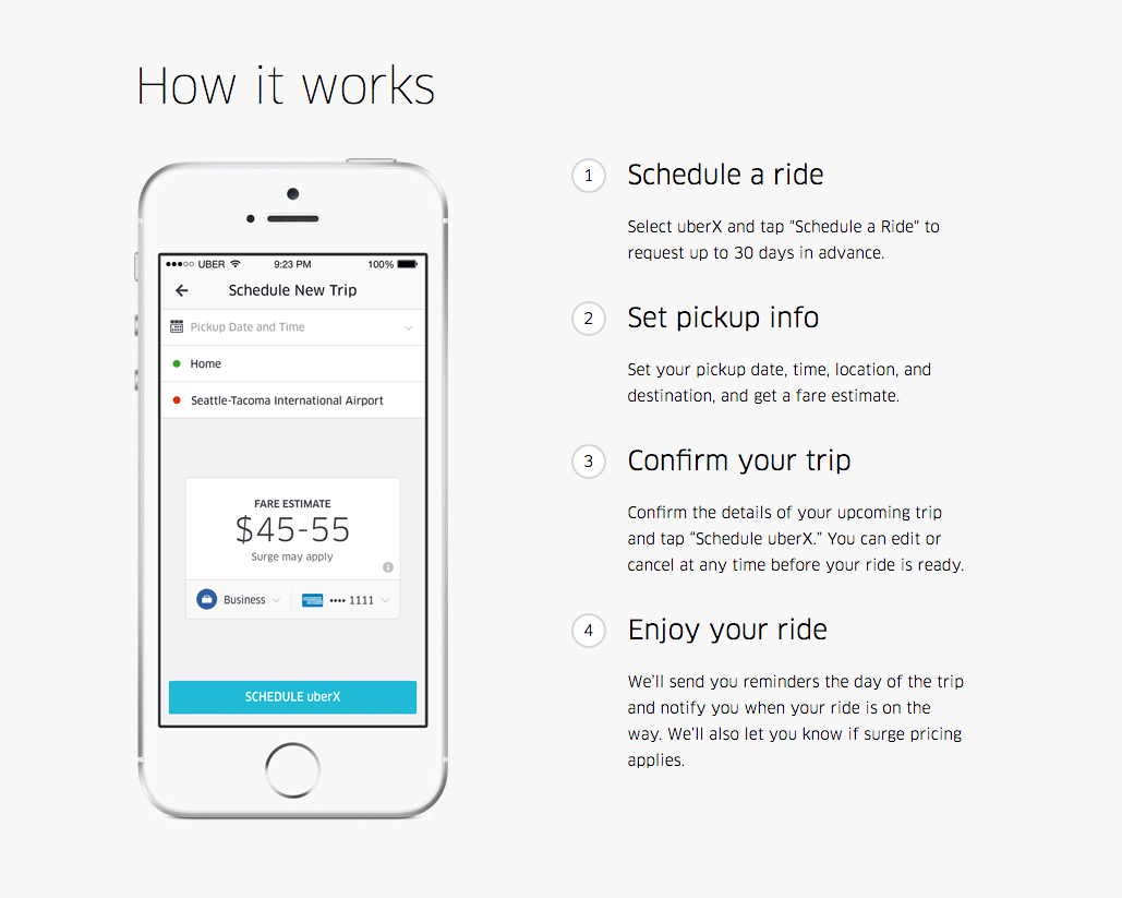 schedule rides with uber up to 30 days in advance