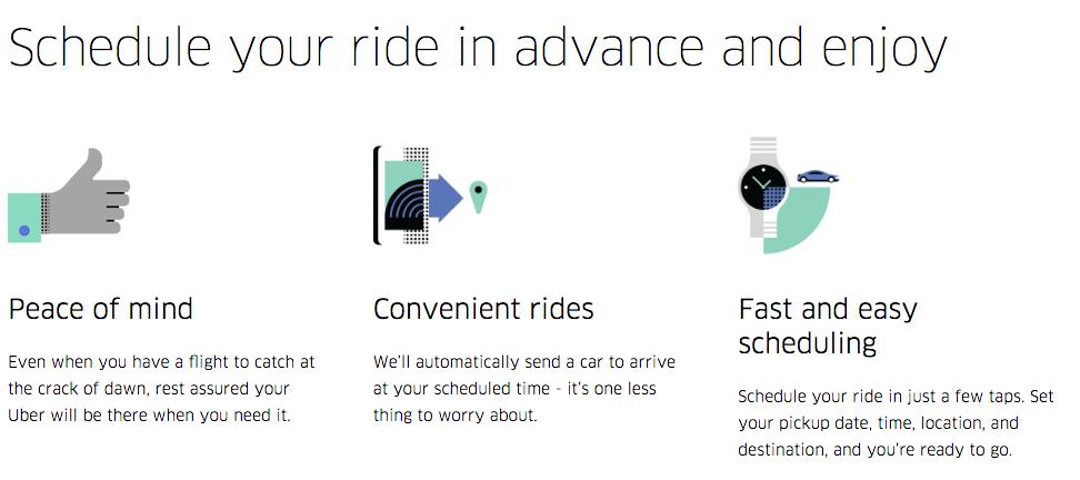 Schedule Uber Rides