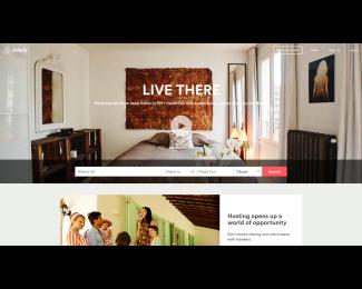 airbnb - Homepage
