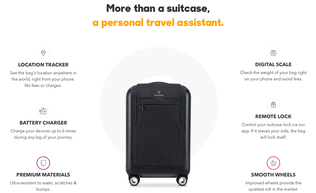 Bluesmart Black Edition Suitcase