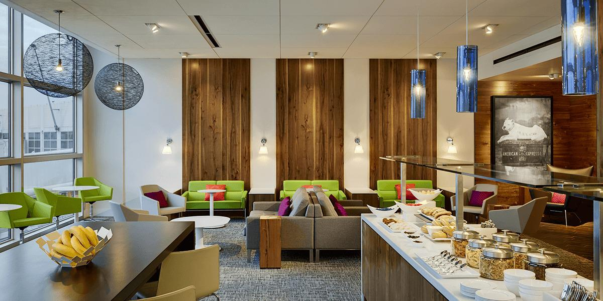 The Amex Platinum offers top-tier lounge benefits, including access to the Centurion Lounge network -  Centurion Studio SeaTac photo courtesy of American Express