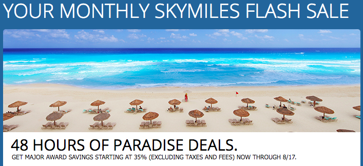 Delta 48-Hour Flash Sale to Mexico and the Caribbean