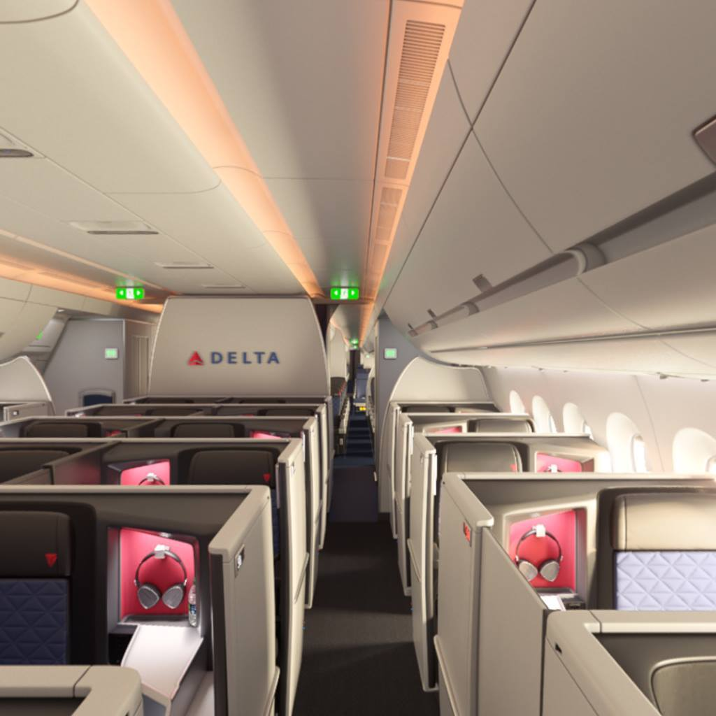 Delta One Business Suite Looking Back A350