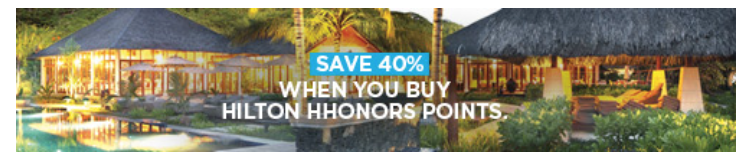 Hilton Honors 40% Off Purchased Points