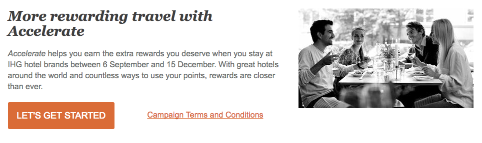 IHG Accellerate Fall 2016 Promotion