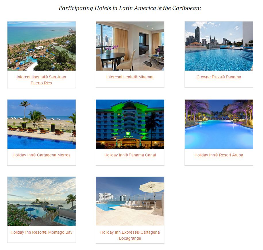 IHG Award Promo August 2016 - Properties