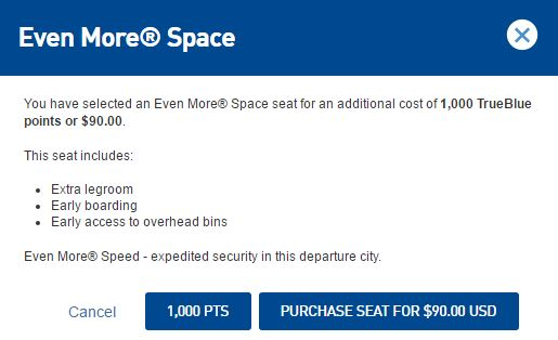 JetBlue Even More Space Options