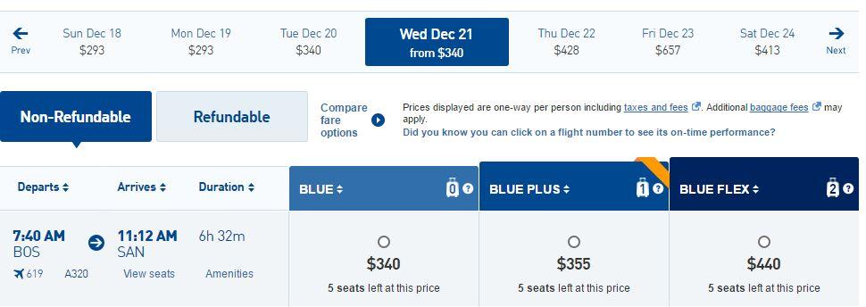JetBlue Boston to San Diego Early Morning #2