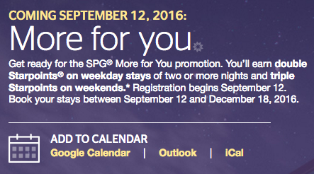 SPG More For You Promo