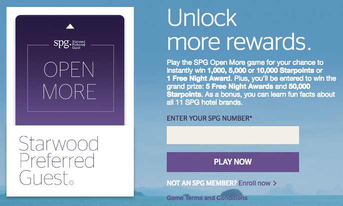 SPG Open More Promotion