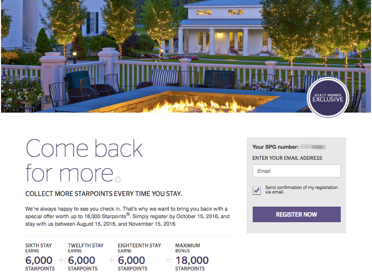 SPG Select Member Exclusive Offer
