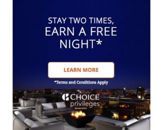 Choice Privileges - Stay Two Times Earn A Free Night