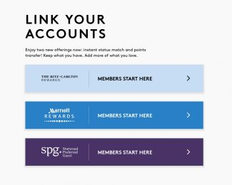 Link Your Accounts - Marriott Ritz & SPG
